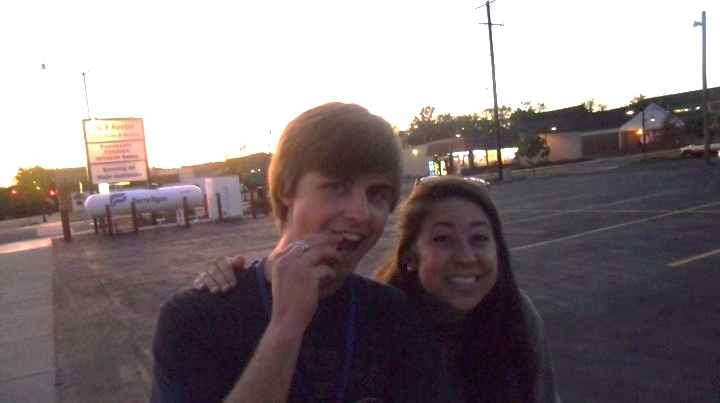 Amber's and my first photo together...as friends
