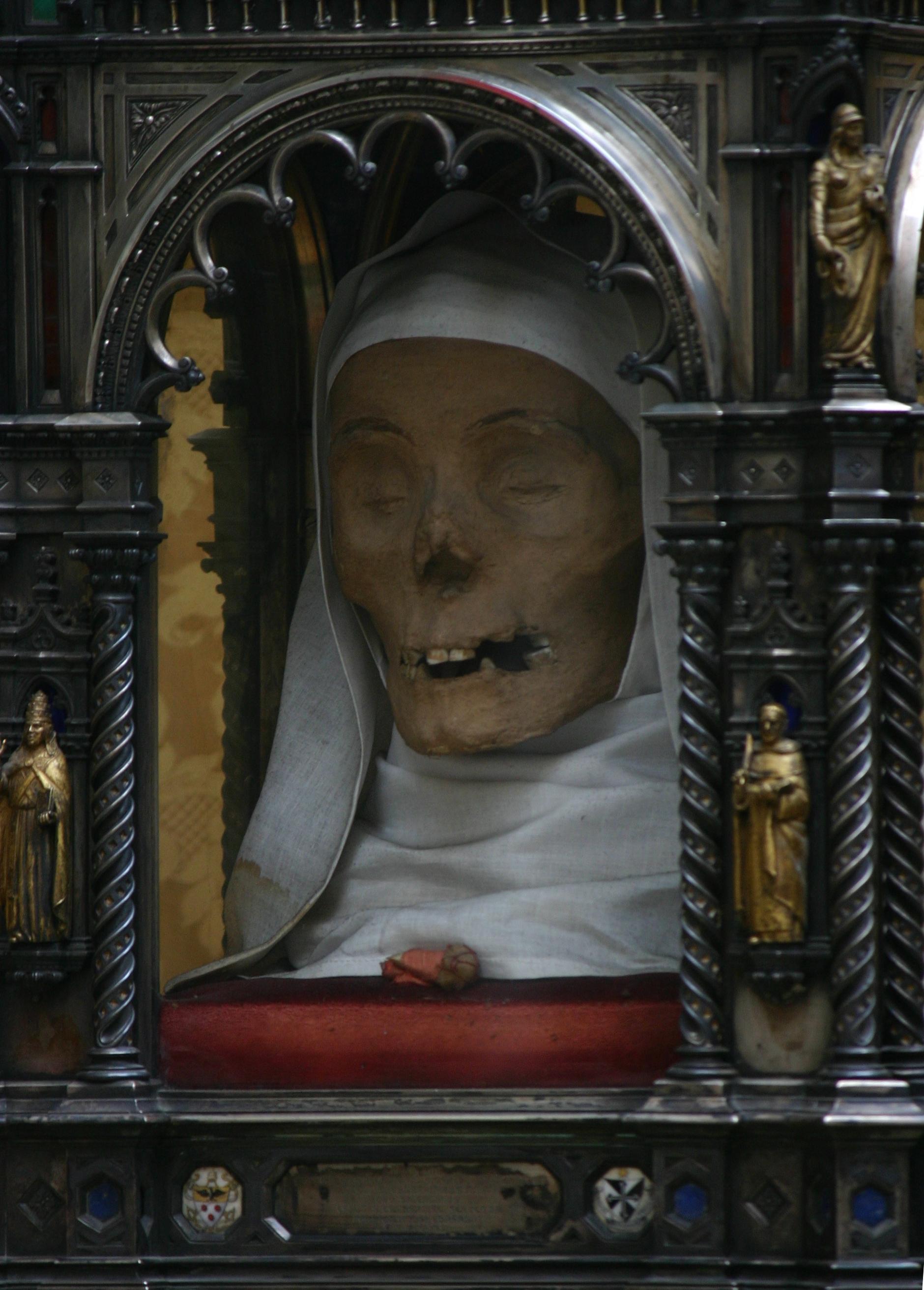The head of Saint Catherine of Siena