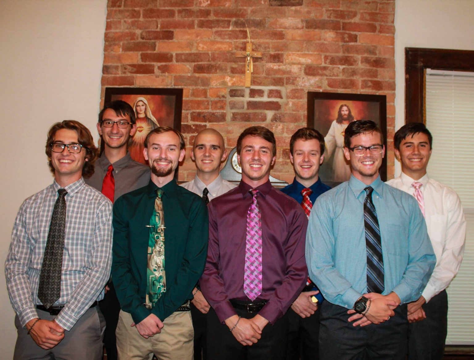 Jacob Ritchey (first row, far left) is living in his first year of Household at Malta, one of SPO Ohio's 3 men's houses.