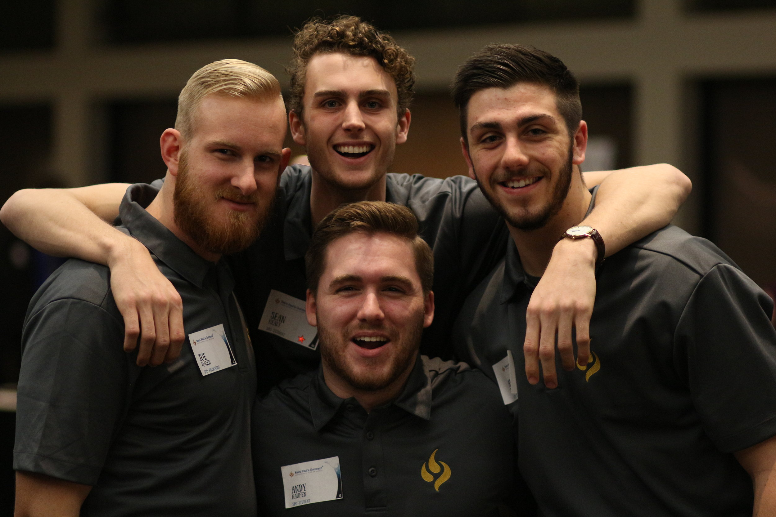 Students and staff of SPO (l-r): Joe Masek, Sean Healy, Andy Kaufer, and Alex Spanton.