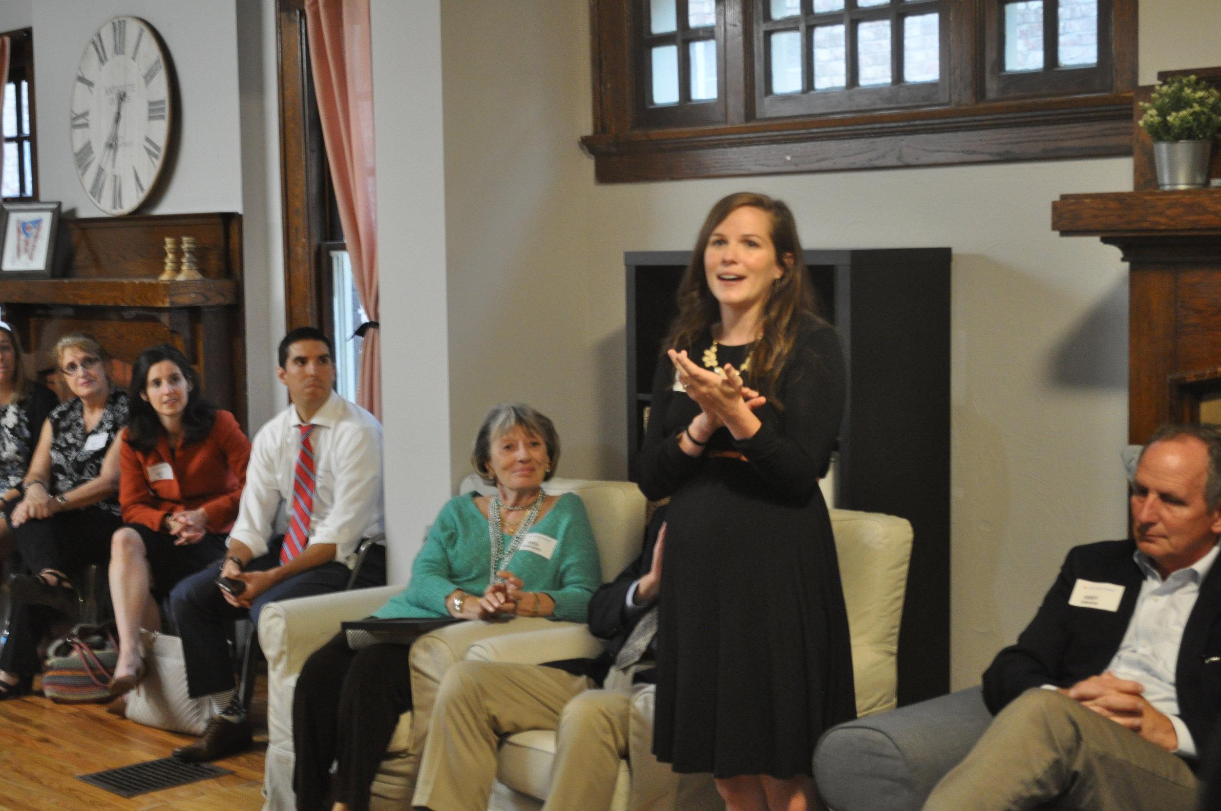 SPO Ohio Mission Director, Alissa Giles, describing the dream of having an SPO Women's House on OSU's South Campus