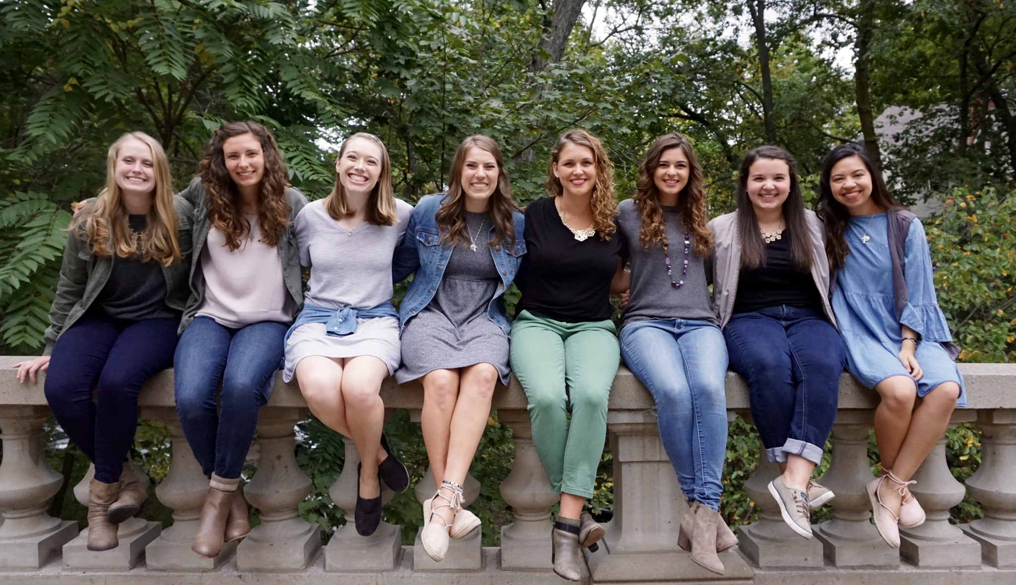 The women of North Siena (Colette, Megan, laura, victoria, monica, taylor, haley, hannah)