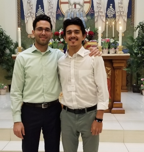 Michael and I after easter vigil.  Michael was on the rcia team at the newman center and was a great resource for me throughout the year.