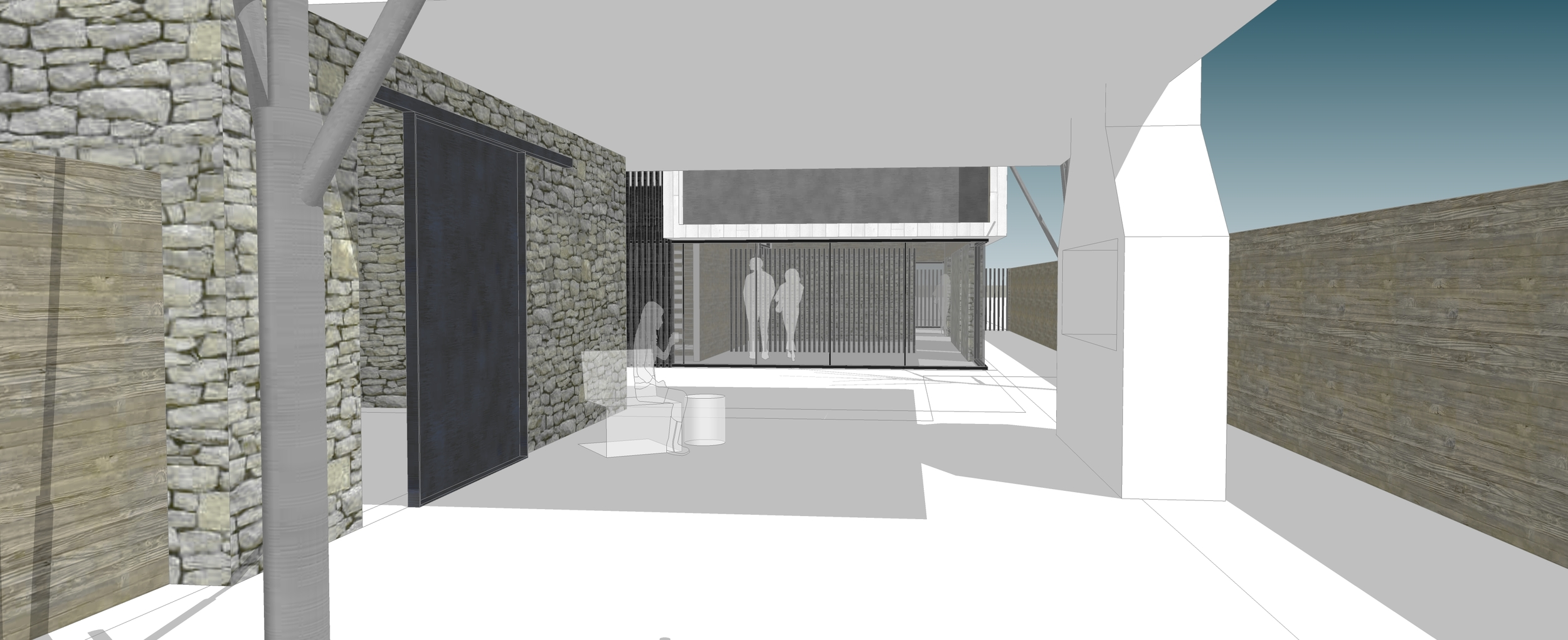 Scheme MQ View from Quincho to House