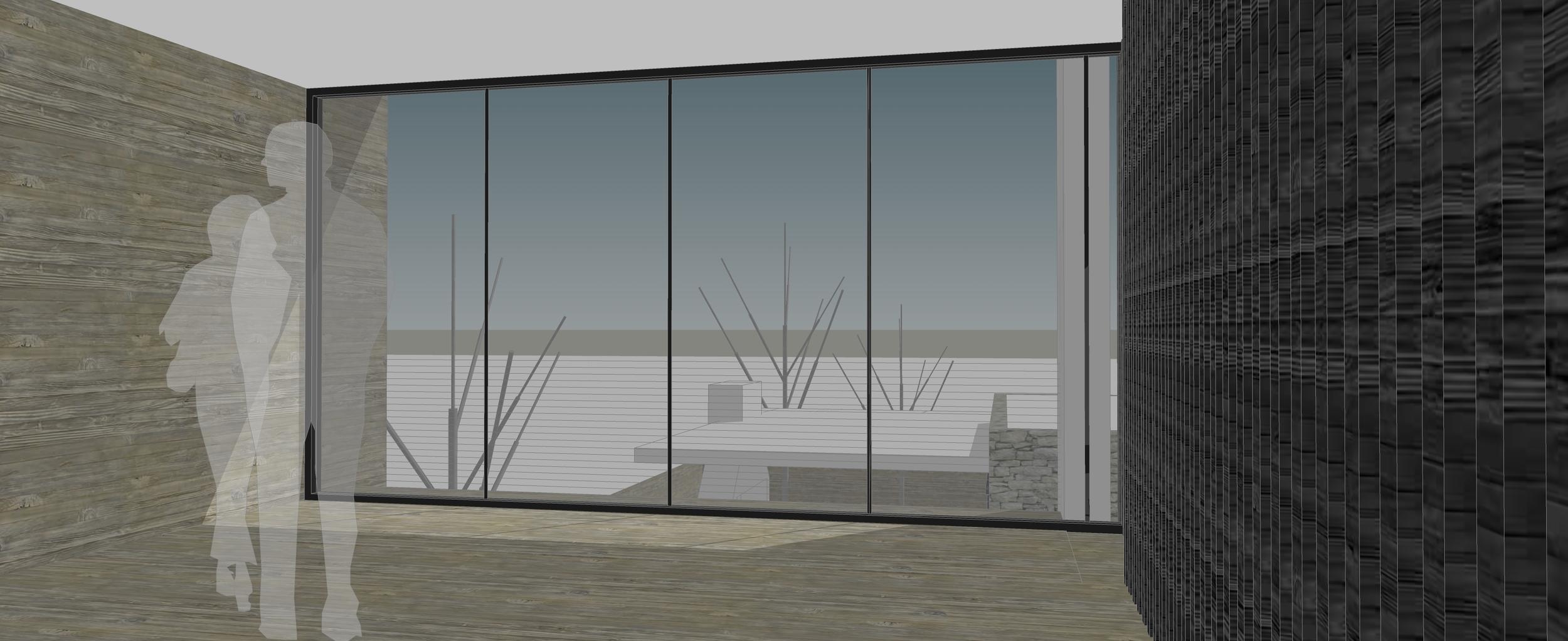 Scheme RQ View to Rear Yard