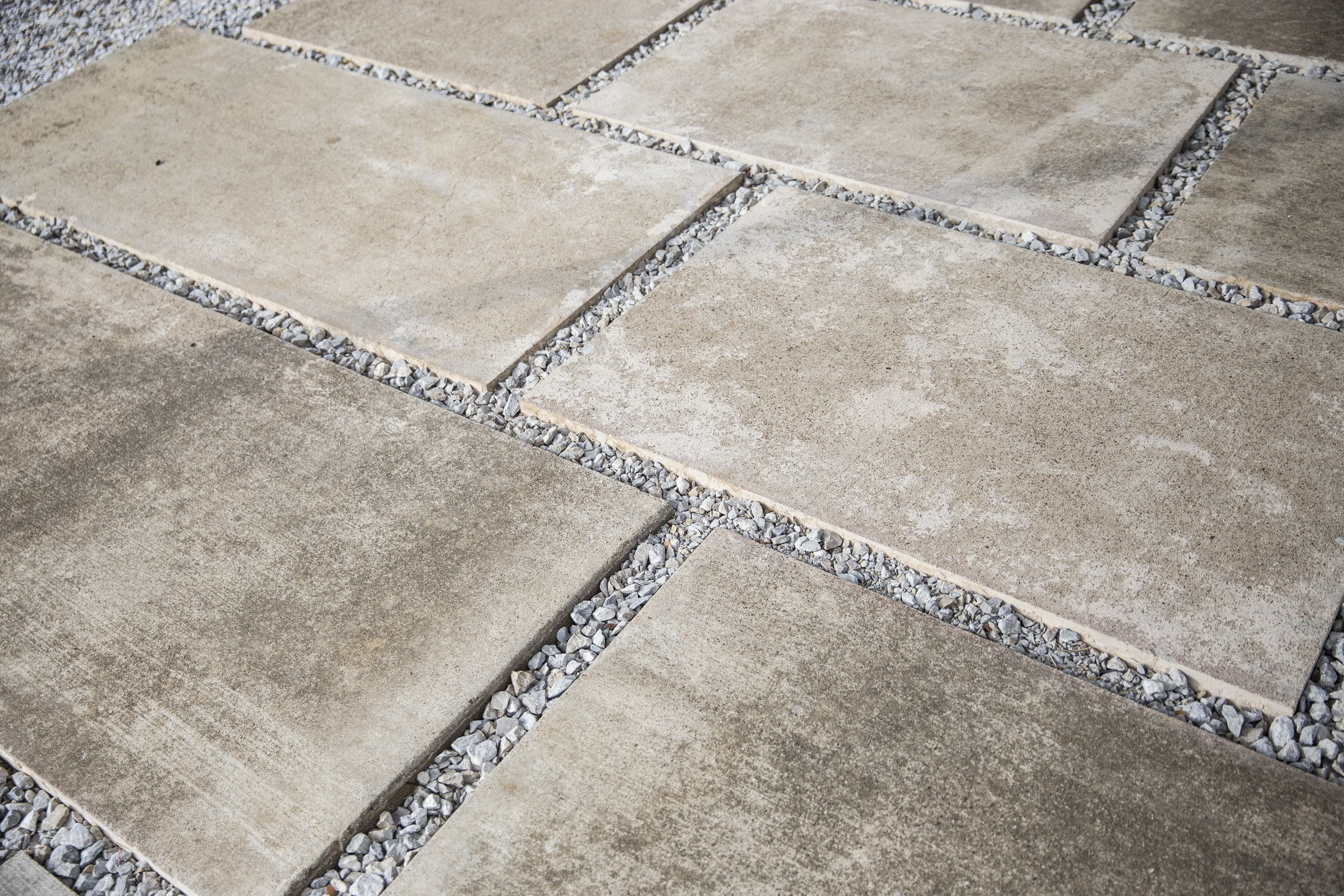 reclaimed concrete pavers