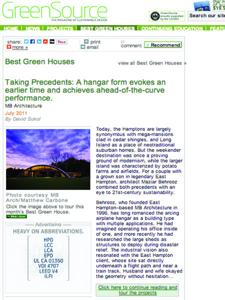 2011.7icon GreenSource Best Green Houses