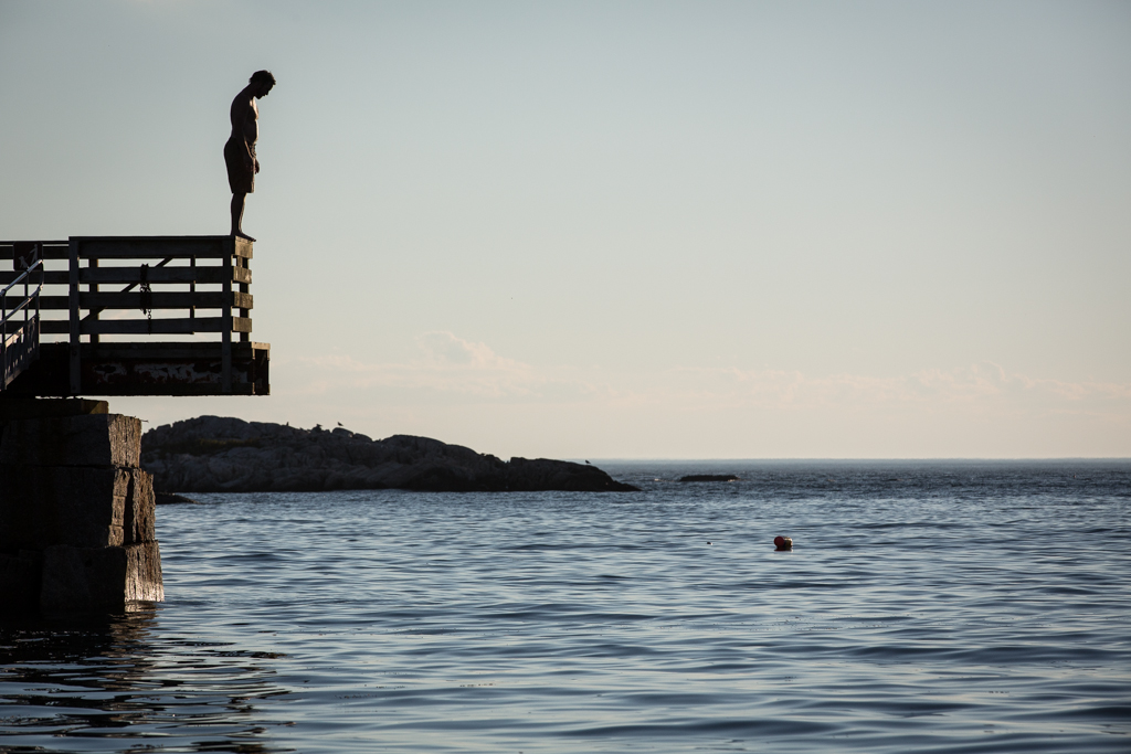 Swimmer, Isle au Haut, Maine, USA