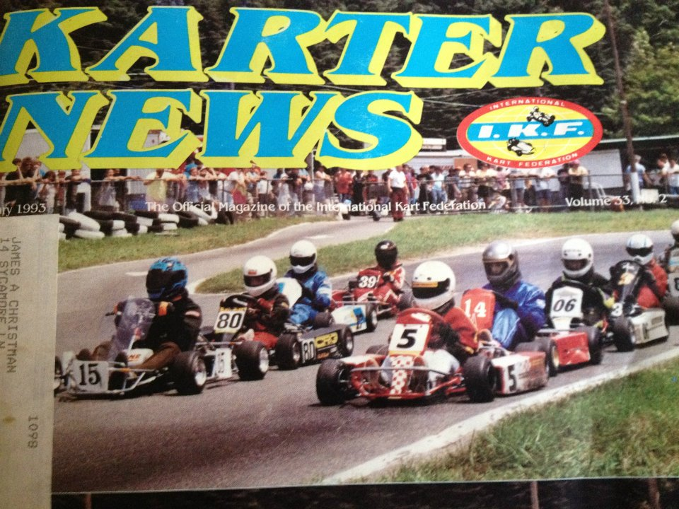 On the cover of Karter News, 1993