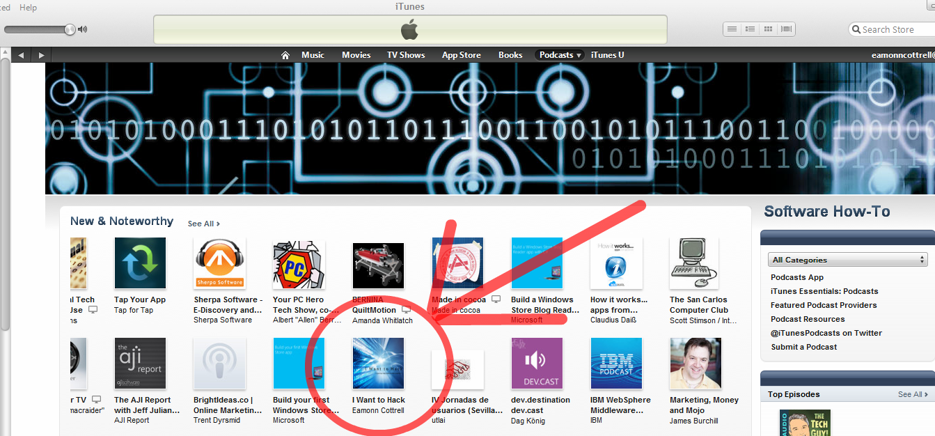 Software How-To Podcast's front page!!