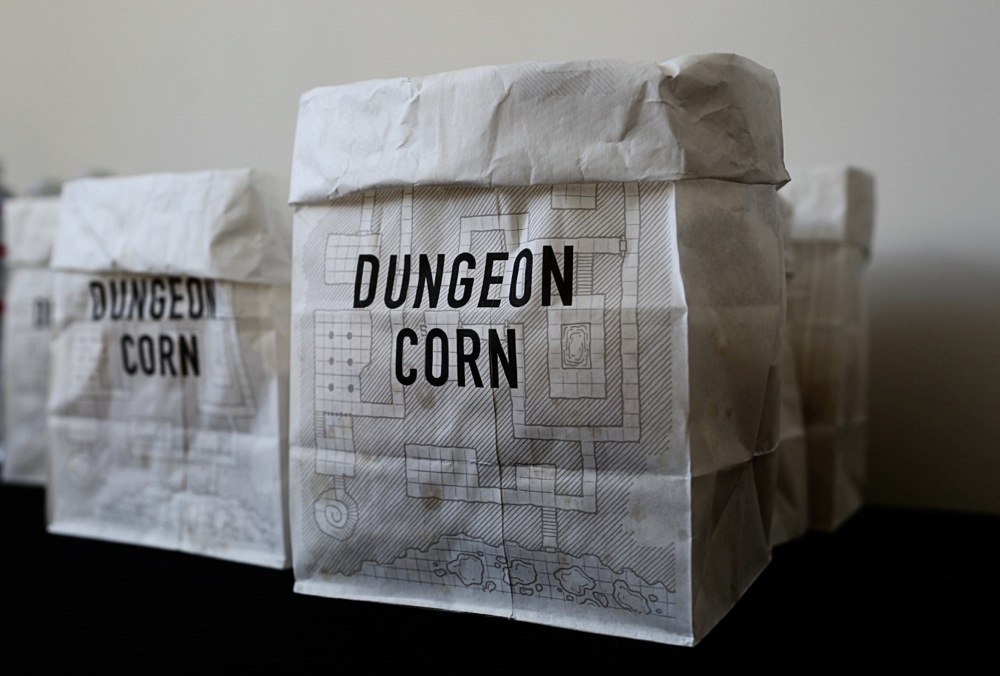 printed white lunch bags for popcorn