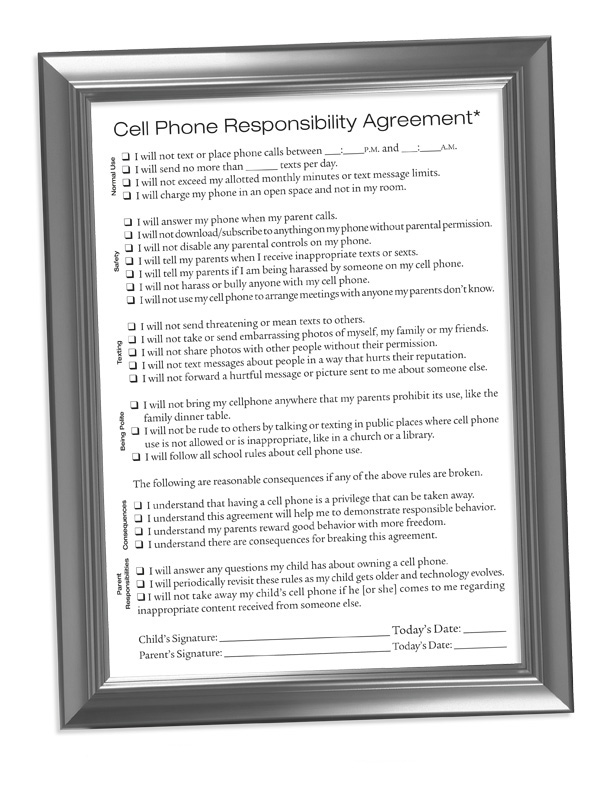 Click to Download The Cell Phone Responsibility Agreement