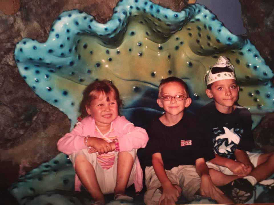 Our three kids in 2004