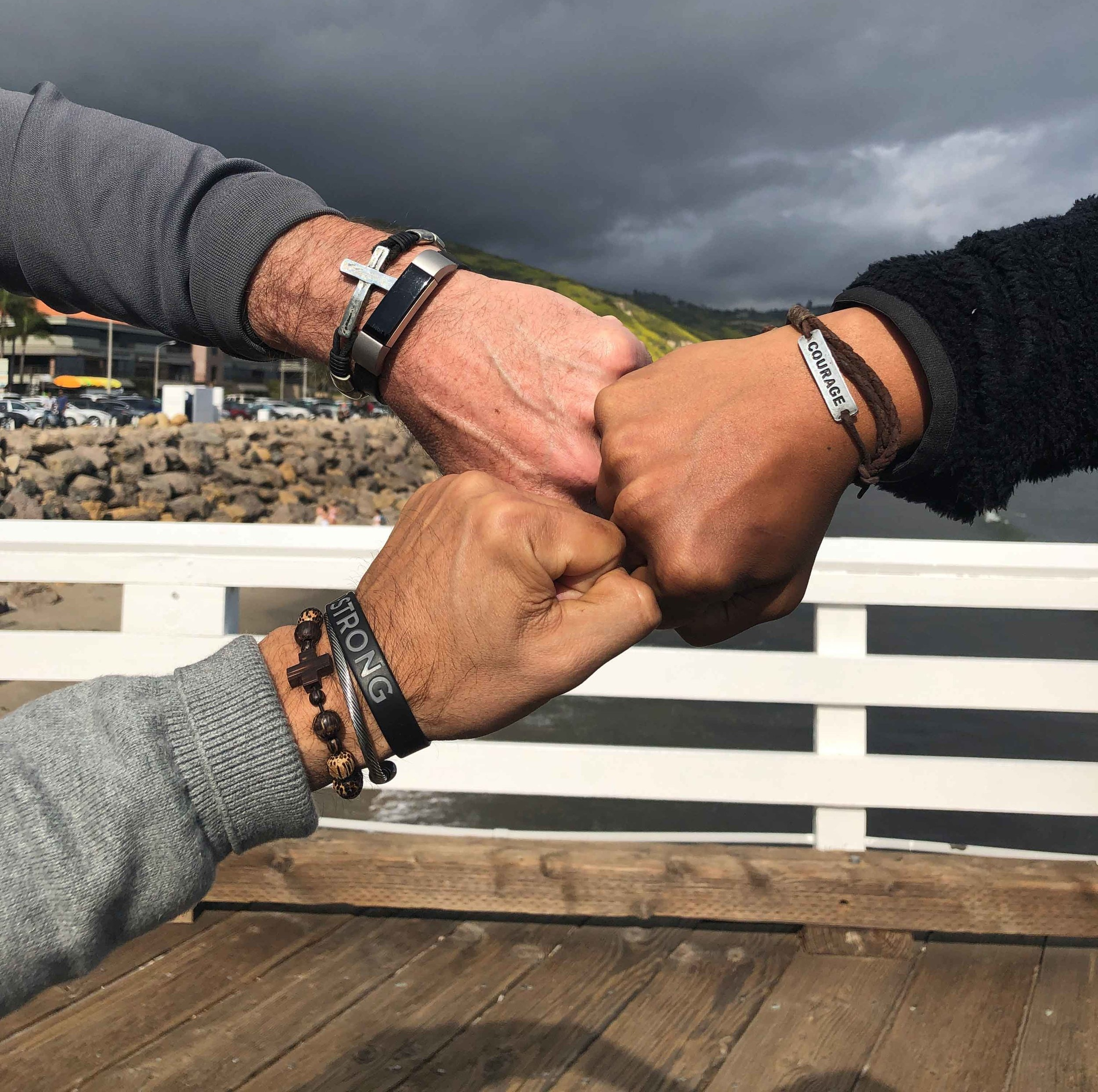 Each of these men have one of Craig's bracelets that they wear as a reminder of their friendship and how it is important not to be isolated but to live in community.