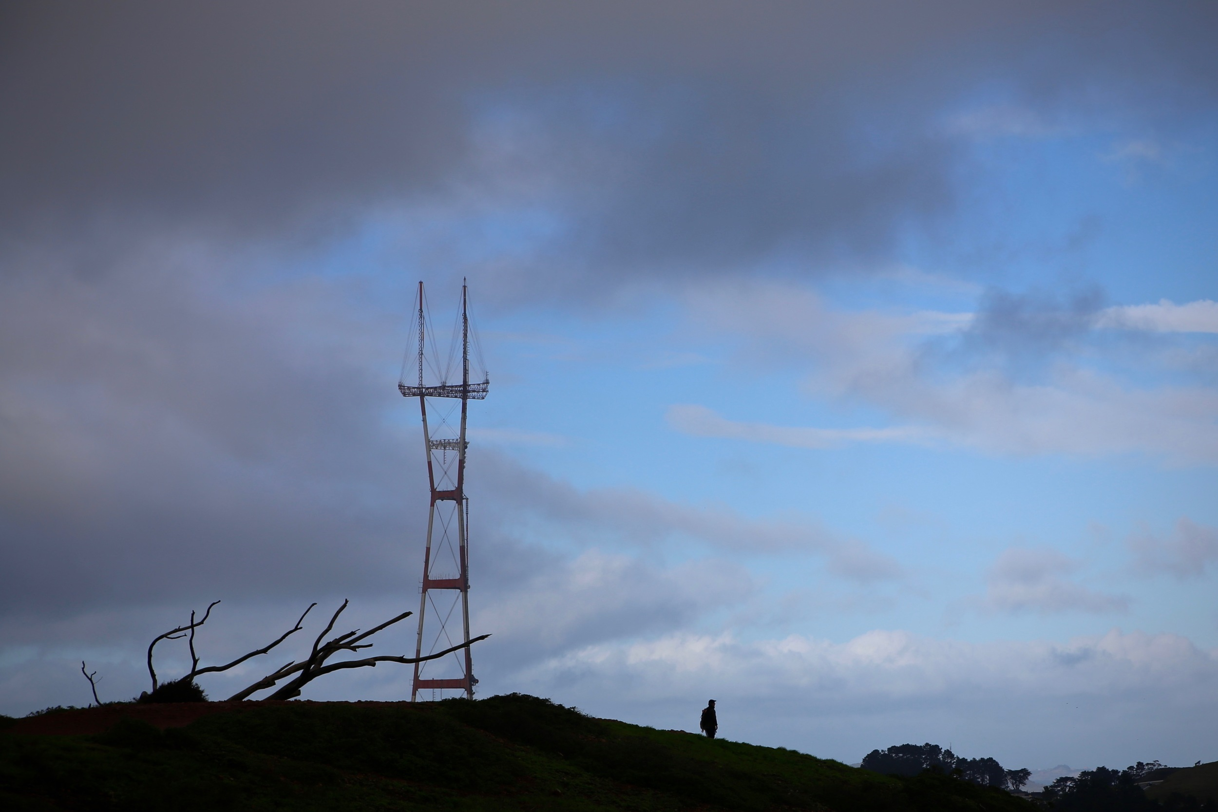 From up on Mount Davidson.