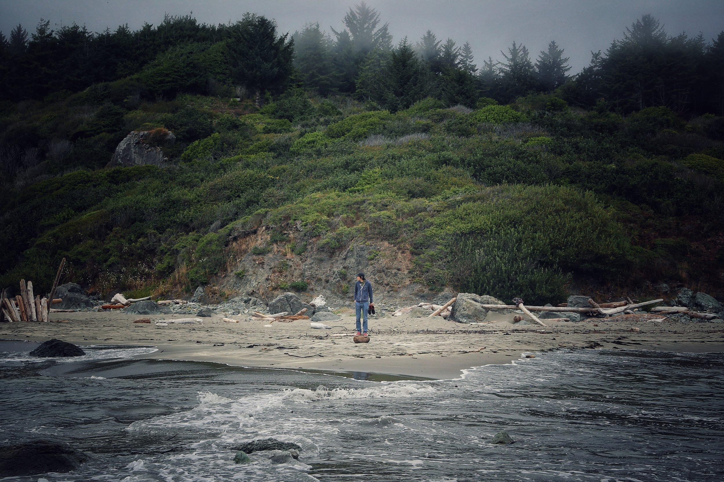 Kay on the Oregon coast.