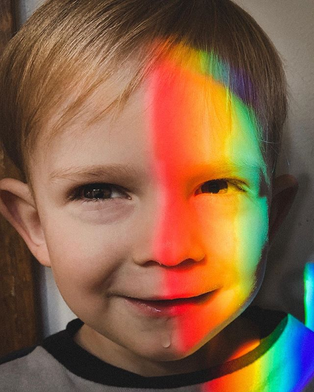 My rainbow baby, miracle child, light bringer, refracting our lives and showing us how all the joy and hope and sorrow and struggle bleed into each other. No separation, just all of it tucked into the same moments every day. But when we step back our lives look like a rainbow and like a fullness we didn't know existed before. He is full of love and full of discovery, even though his heart and brain are constantly fighting for strength and healing. . I don't post often here about J's medical journey any more because there is simultaneously too much to tell and also no real answers. But if you are interested there are some updates in his caring bridge from the last few months. The link is in my profile.