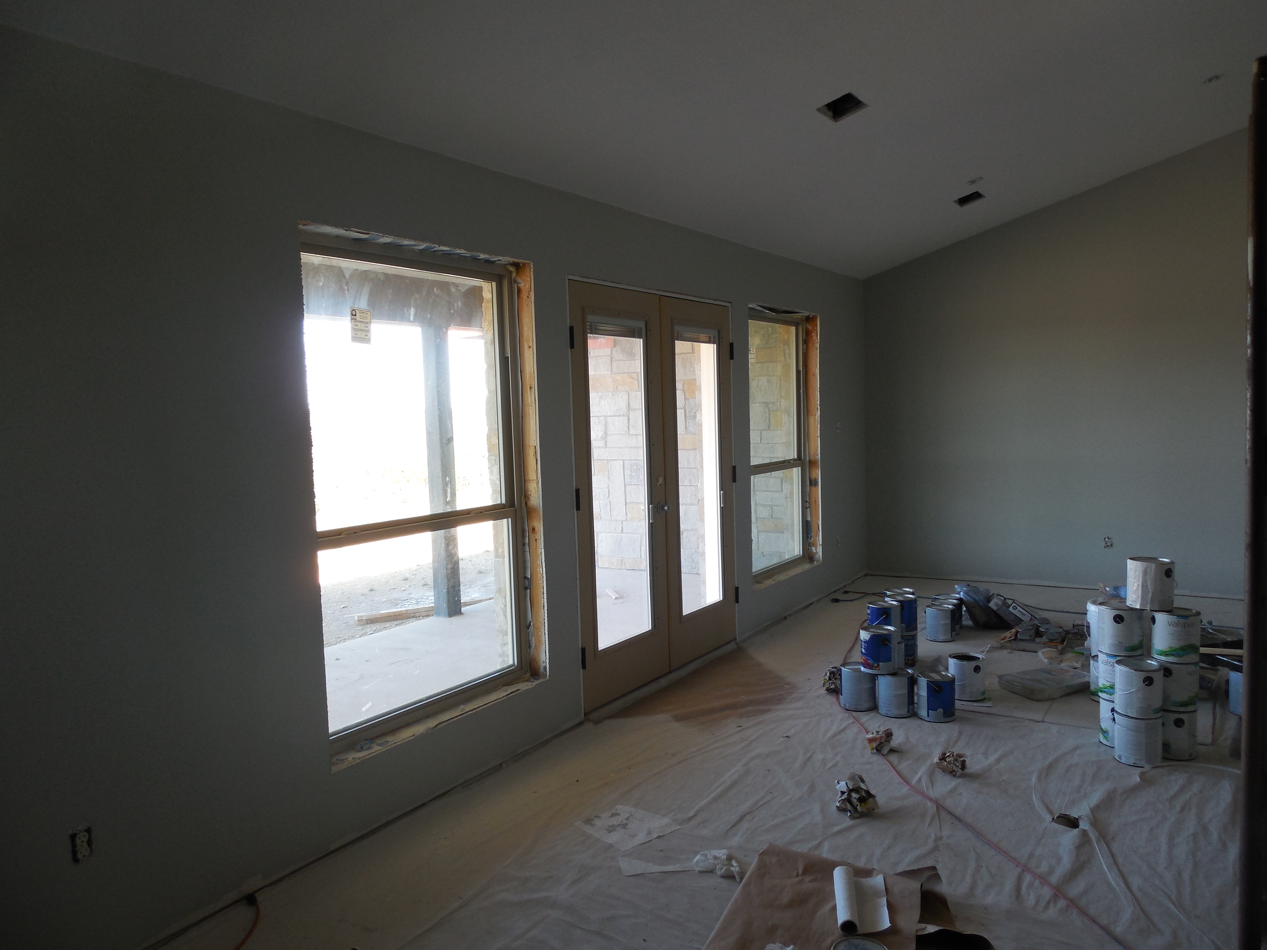 facing the dining area.