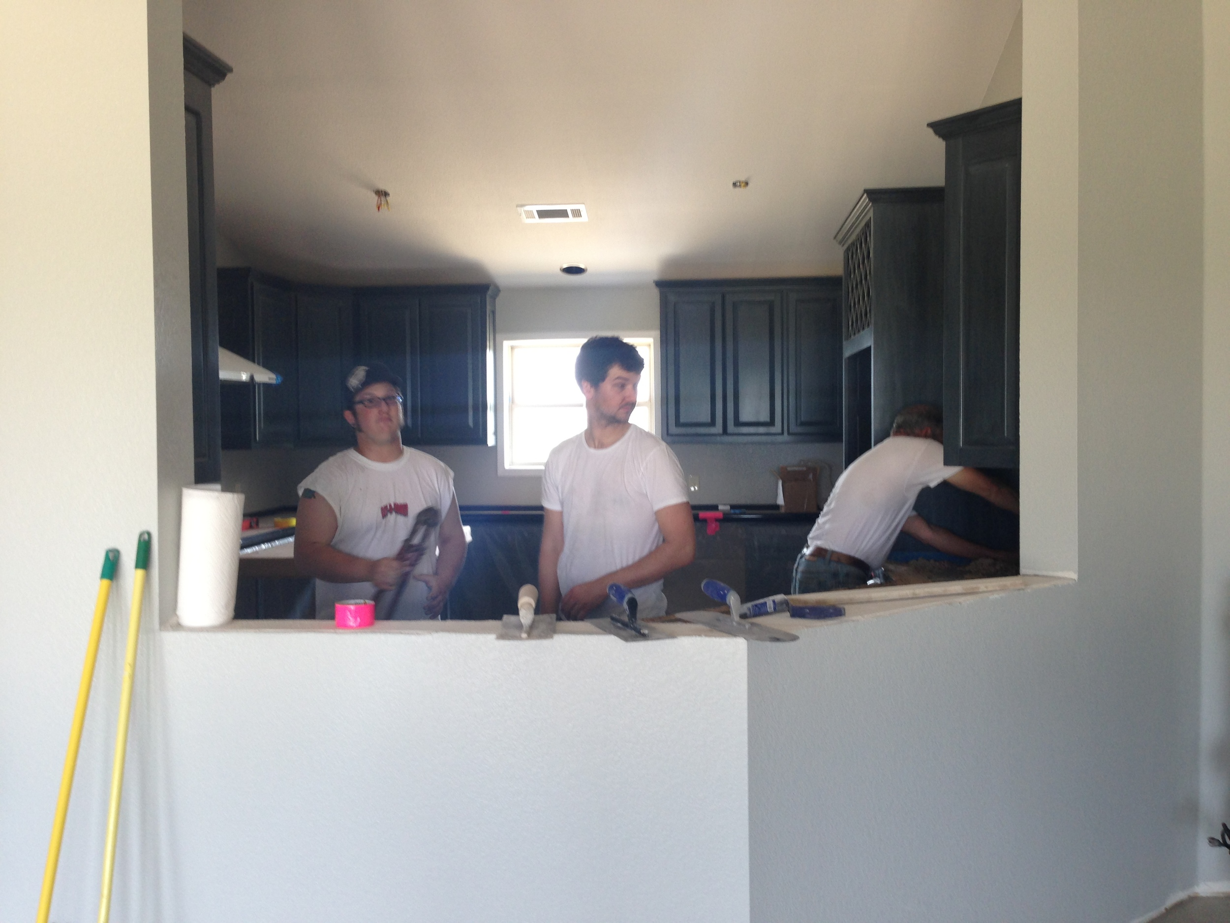 With much needed assistance from Cobbler we got the entire kitchen poured in one weekend.