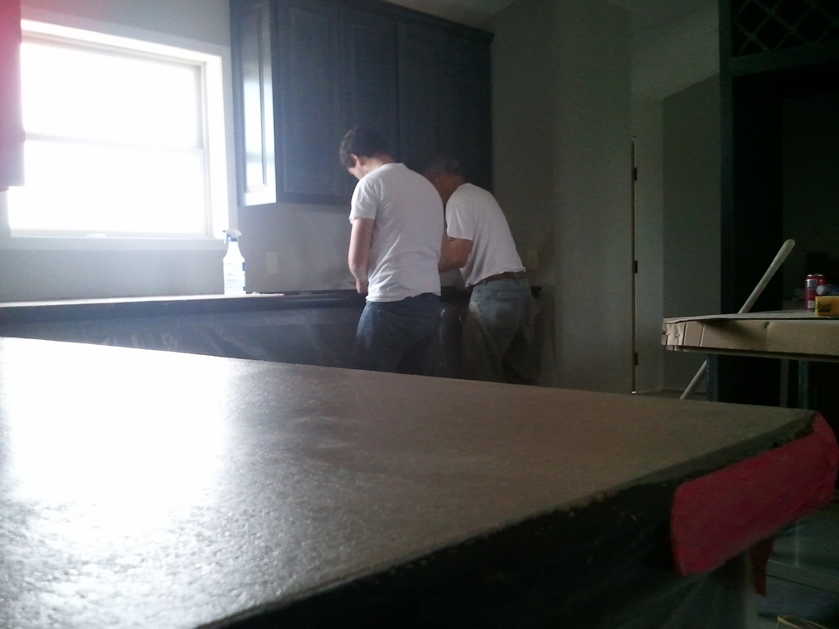 Picture taken by Cobbler!!! Setting the counter near the kitchen sink.