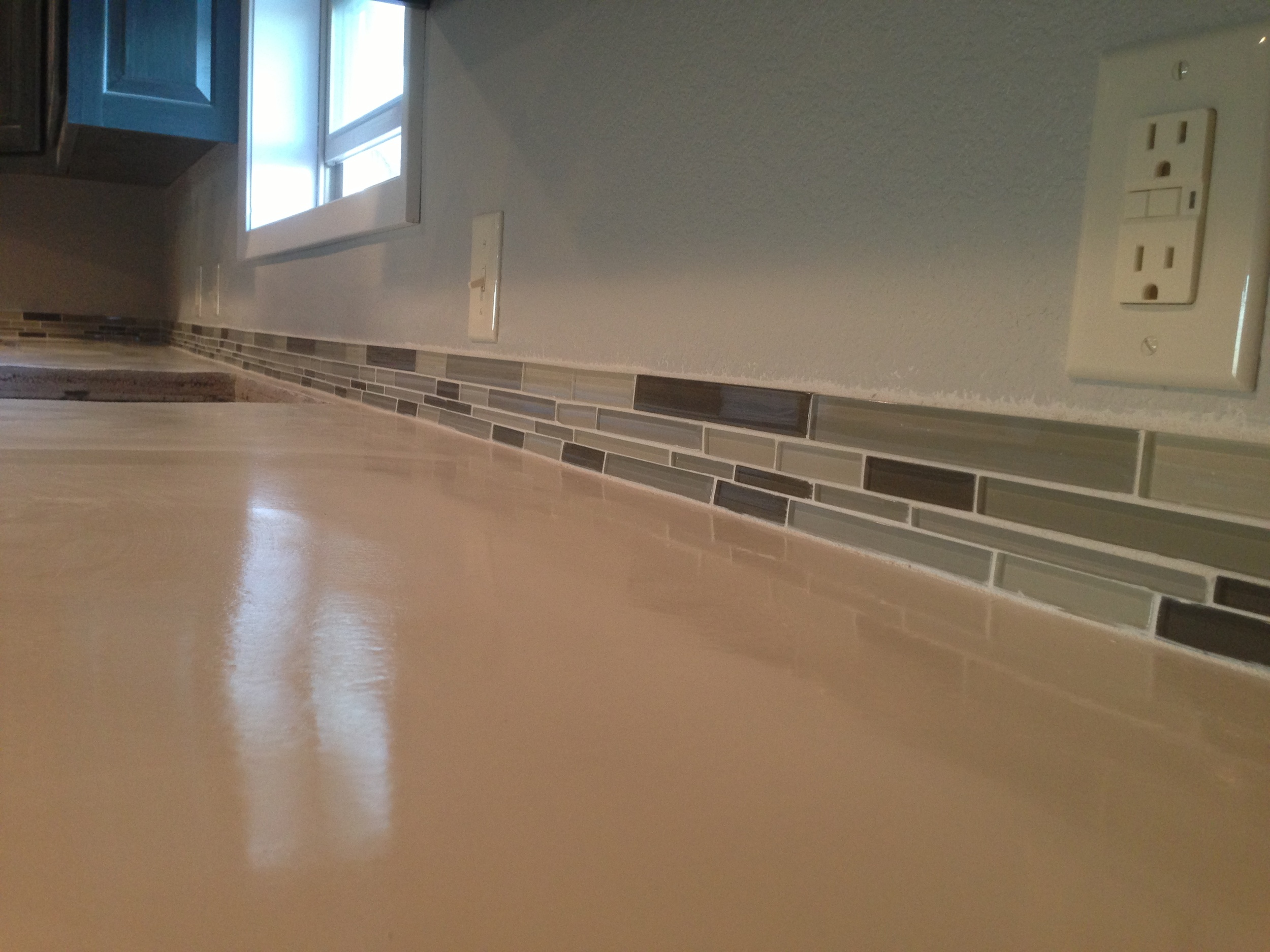 That is where the kitchen sink will be placed...with the completed back splash.