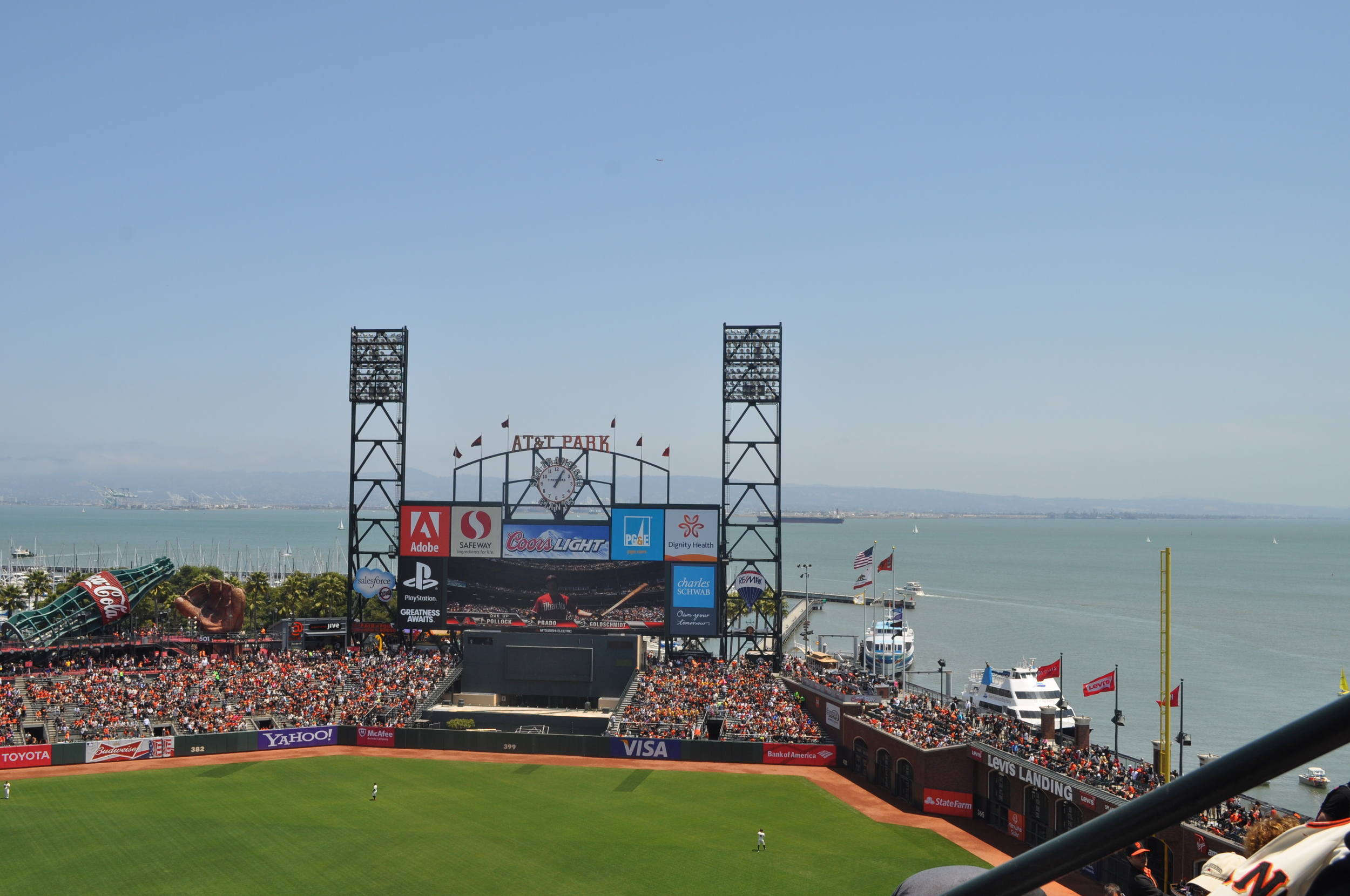 Our stay at the bay brought us to one of my uncles. We were able to meet up to catch a Giants game. We had such a great time catching up. The Giants didn't win, but we were able to eat some very tasty stadium food.....garlic fries are a must!!!!