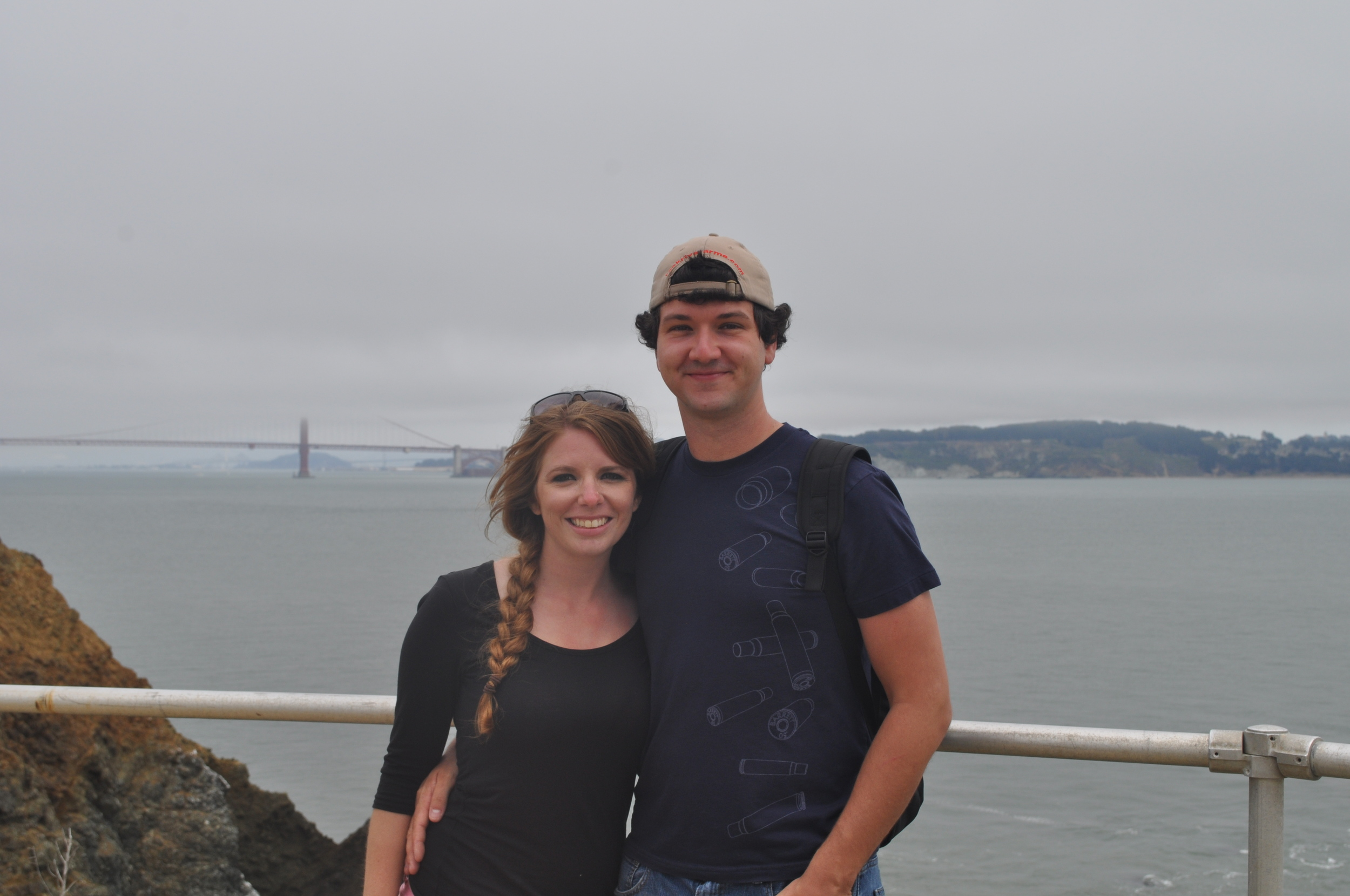 Golden Gate there behind us.