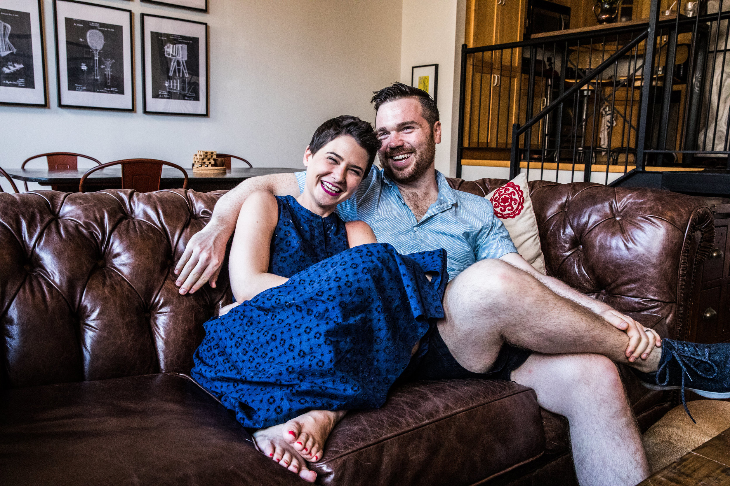 BROOKLYN, NY — Tovah and Kevin, at home.