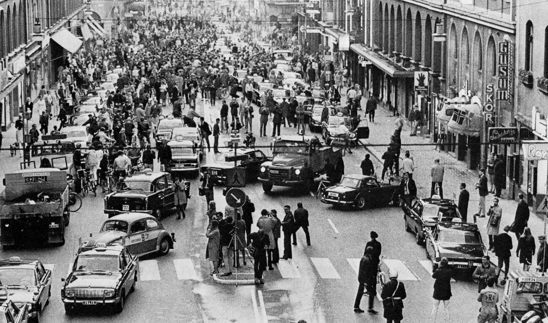 """Sweden's """"Dagen H"""" or """"H-Day"""" in 1967. It was mayhem on the roads for a little while."""