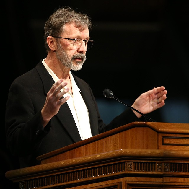Ed Catmull speaking at BYU in 2015 (not the event where my humiliation took place)