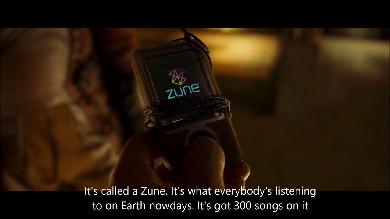 Click through to see the deleted scene where Peter Quill is taught how to use the Zune.