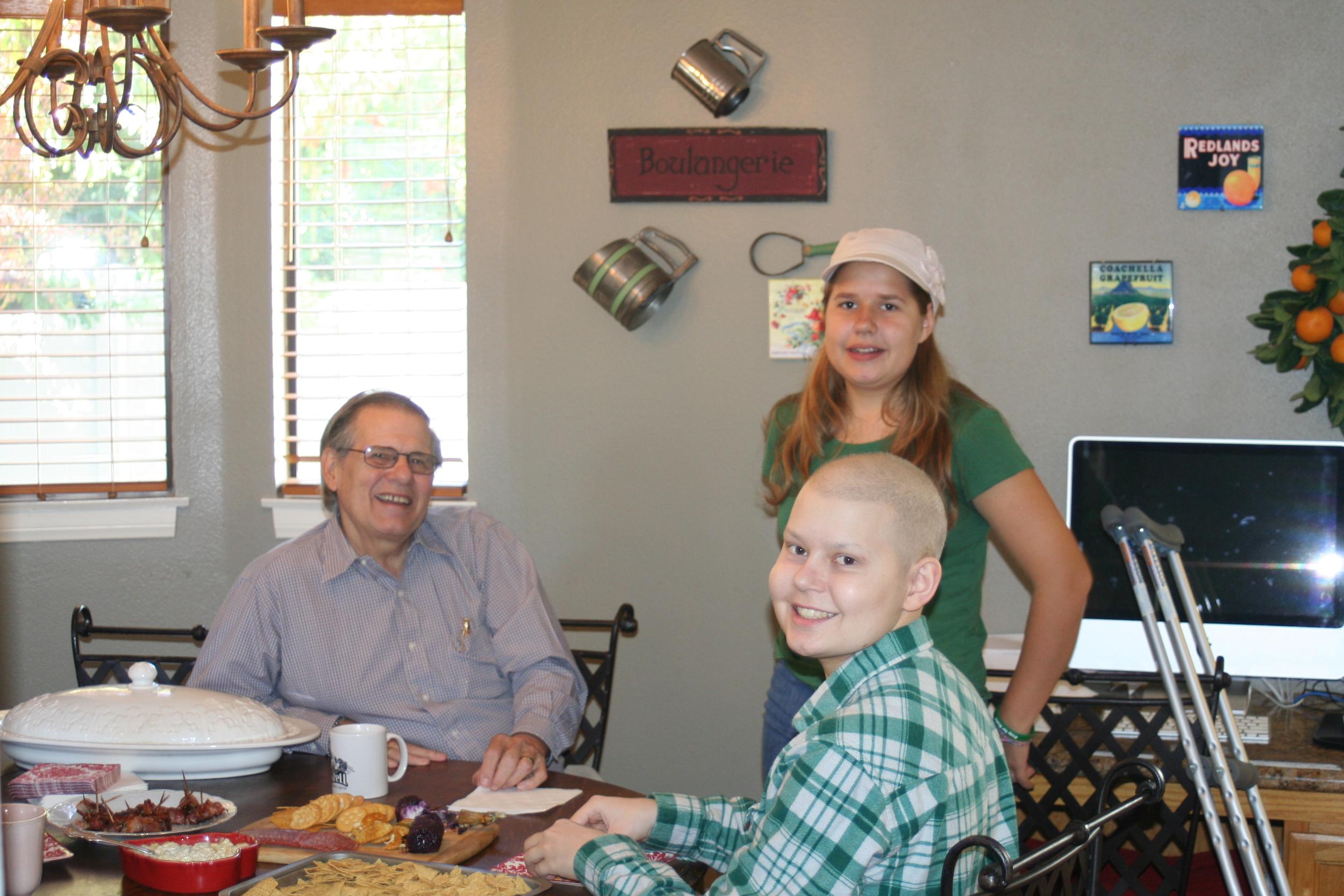 Grandpa Derksen with Victoria and Blake