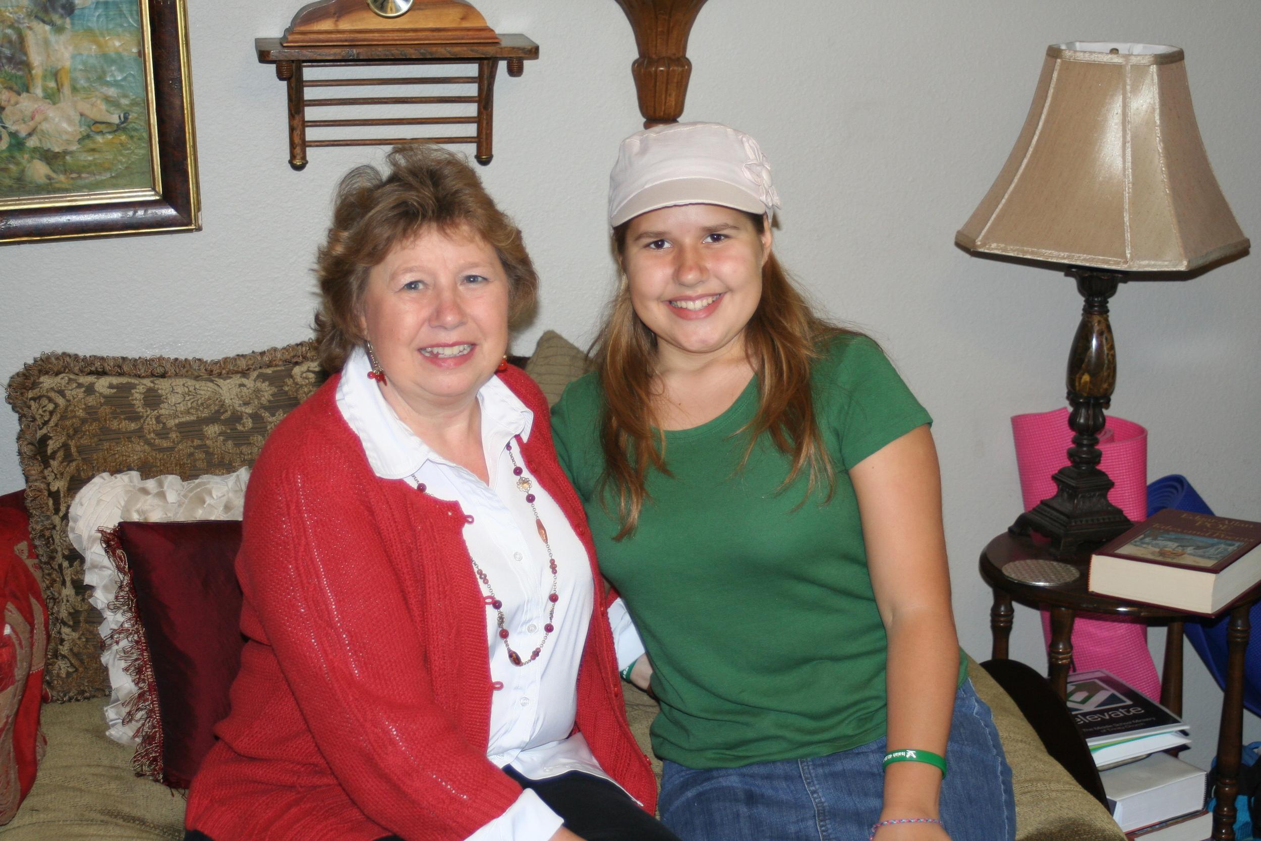 Grandma Derksen with Victoria