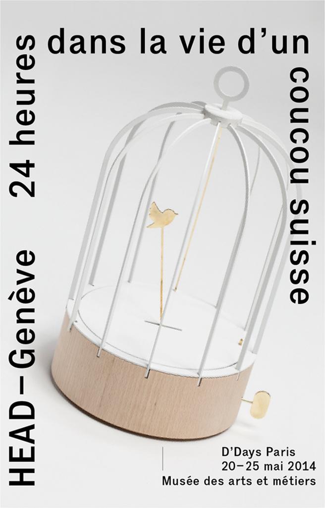 """""""Bird Cage Clock"""", Dorothée Loustalot, assistée de J. Metral © HEAD – Genève, S. Pointet"""