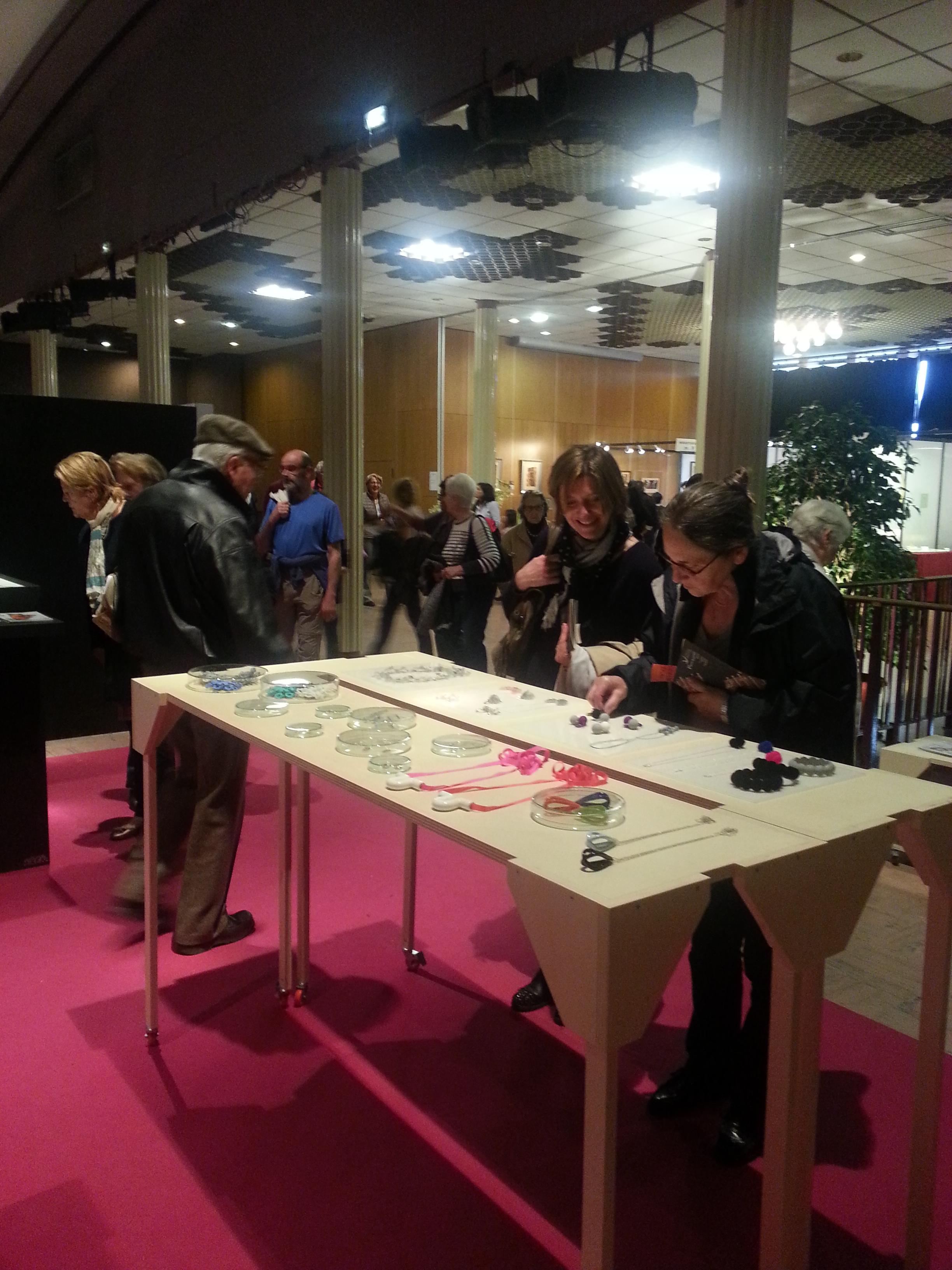 Salon des Métiers d'Art, Palais des Festivités, Mai 2015, Evian. Photo D. Loustalot.