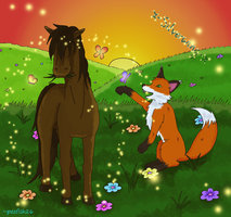 A_Meadow__Horse__and_Fox_COLOR_by_pezfish26.jpg