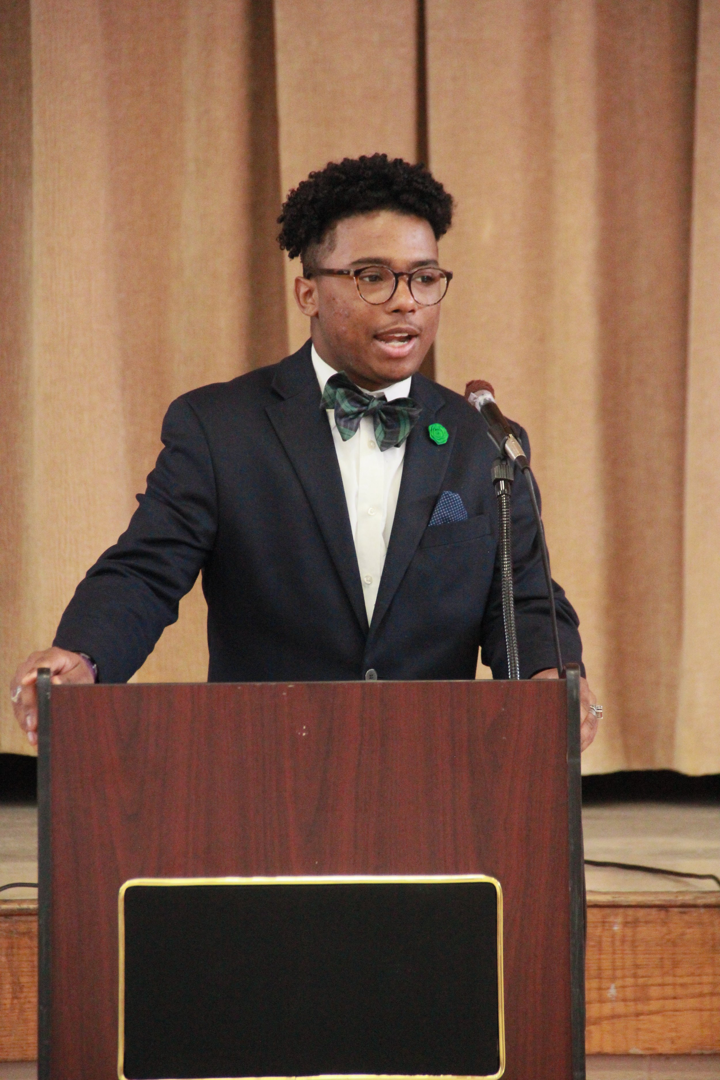 This is Mr. Patrick Henderson, of Lake Providence, LA. Mr. Henderson, was chosen as the 2nd place JHSFund Scholarship recipient, at the annual program in May, 2018. He is a freshman at Alcorn State University.