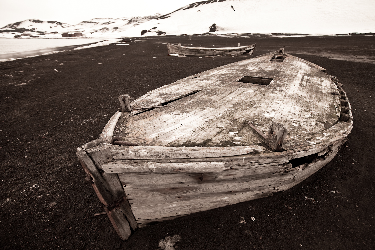 Old whaling boat. Whalers Bay.