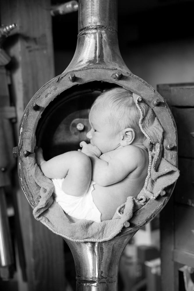 newborn, baby, family, black and white