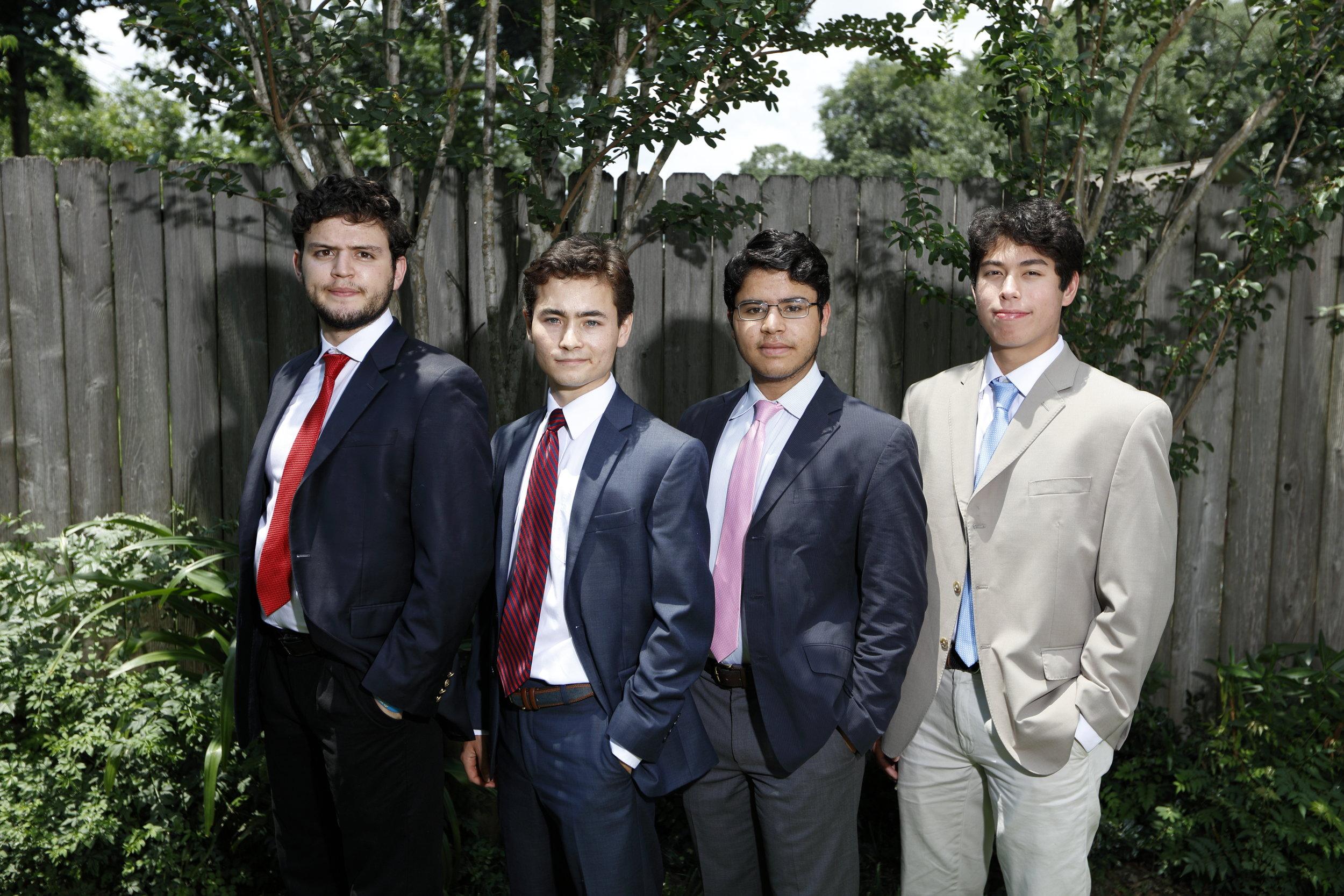 Chris Gosselin (2012), Noah Penny, Tony, and Matt Bonesera