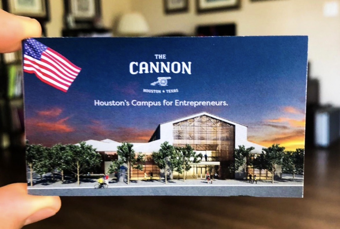Tony is a member of The Cannon, a new incubator for small businesses here in Houston.