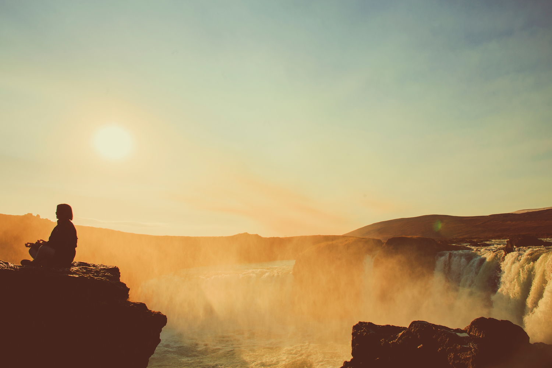 meditator atGoðafoss, Iceland. Photo by  Jennifer Picard Photography .