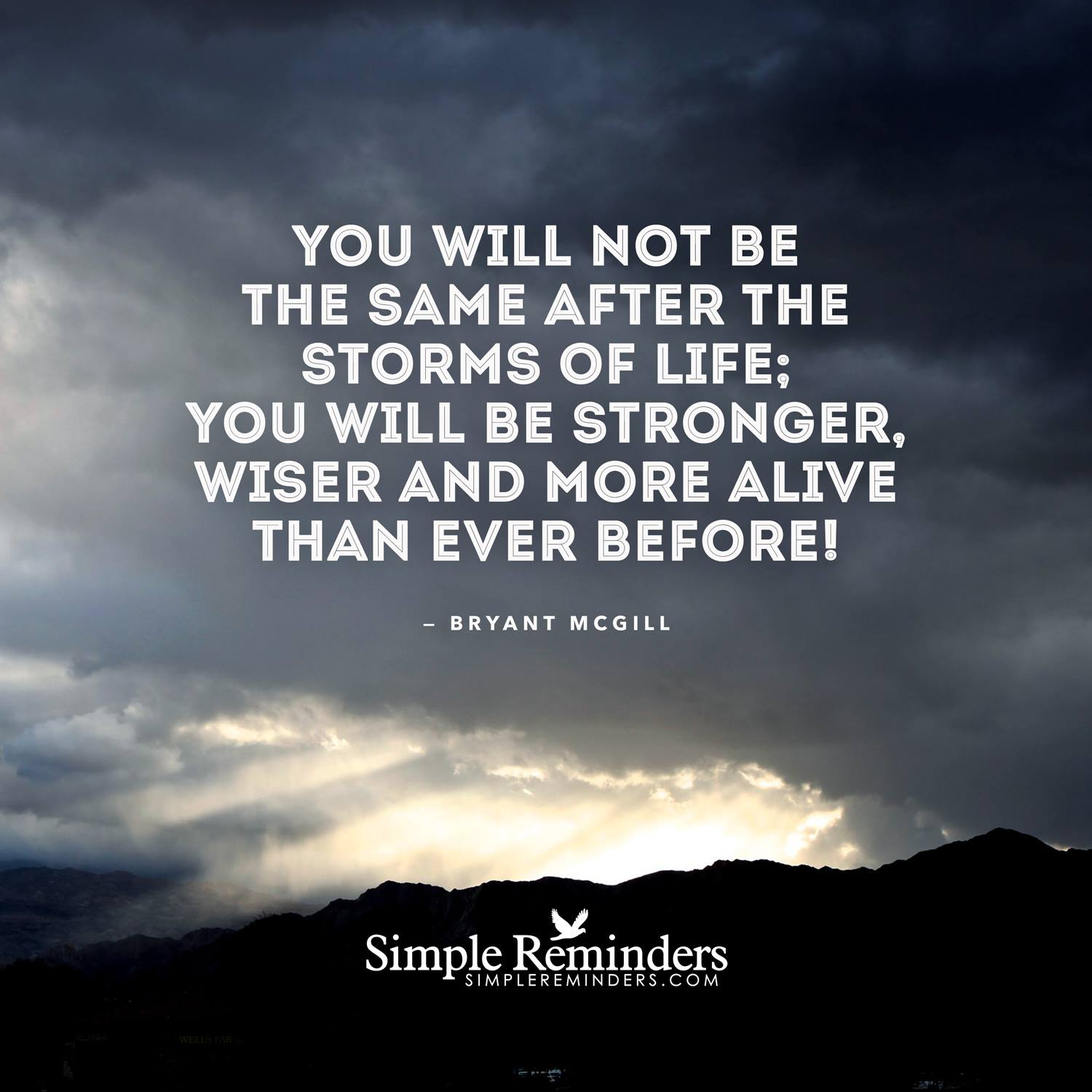 transcending the storms of suffering - Bryan McGill - Simple Reminders - Zen Thinking Quote