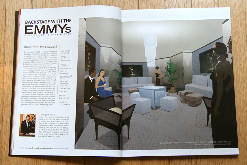 Architectural Digest / The Emmy Awards