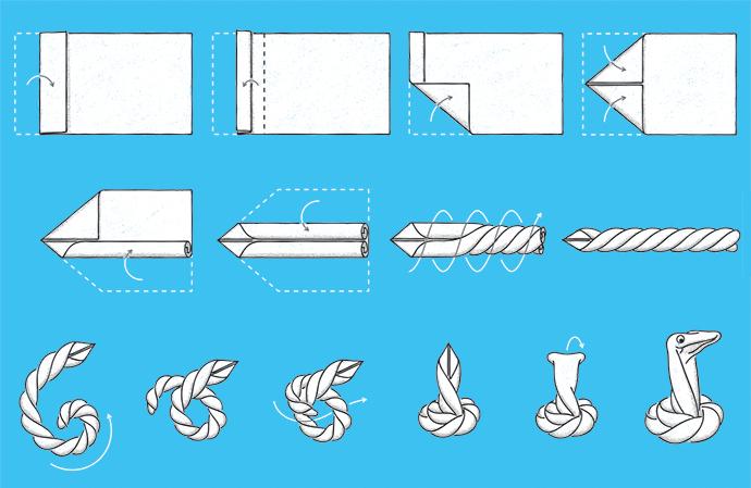 23 Best Towel Animals images | Towel animals, Towel origami, Towel | 449x690