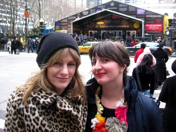 Sheri and I at NYFW, when the shows were still at the tents. I was pregnant, really cold, really tired and as happy as could be.