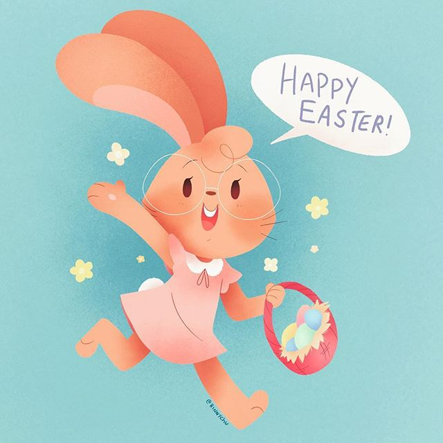Hope everyone is having a great #Easter for those who celebrate! ❤️🐰🌼🐇☀️ I'm going to be making more art in this simplified story style here & there so I hope you enjoy! I'd love to get into children's books, what are some of your favorite books?  What animal kids should I draw next? Let me know! . . . . . . . #easterbasket #easterdecor #easterdecorations #eastertime #easterbunny #eastersunday #eastereggs #easteroutfit #spring #springhassprung #springishere #bunny #kidlitart #childrensbooks #childrenillustrator #kidlitillustration #cute #animal #rabbit #happyholidays #illustrationartists #illustration #artist #art #artwork #ipadproart