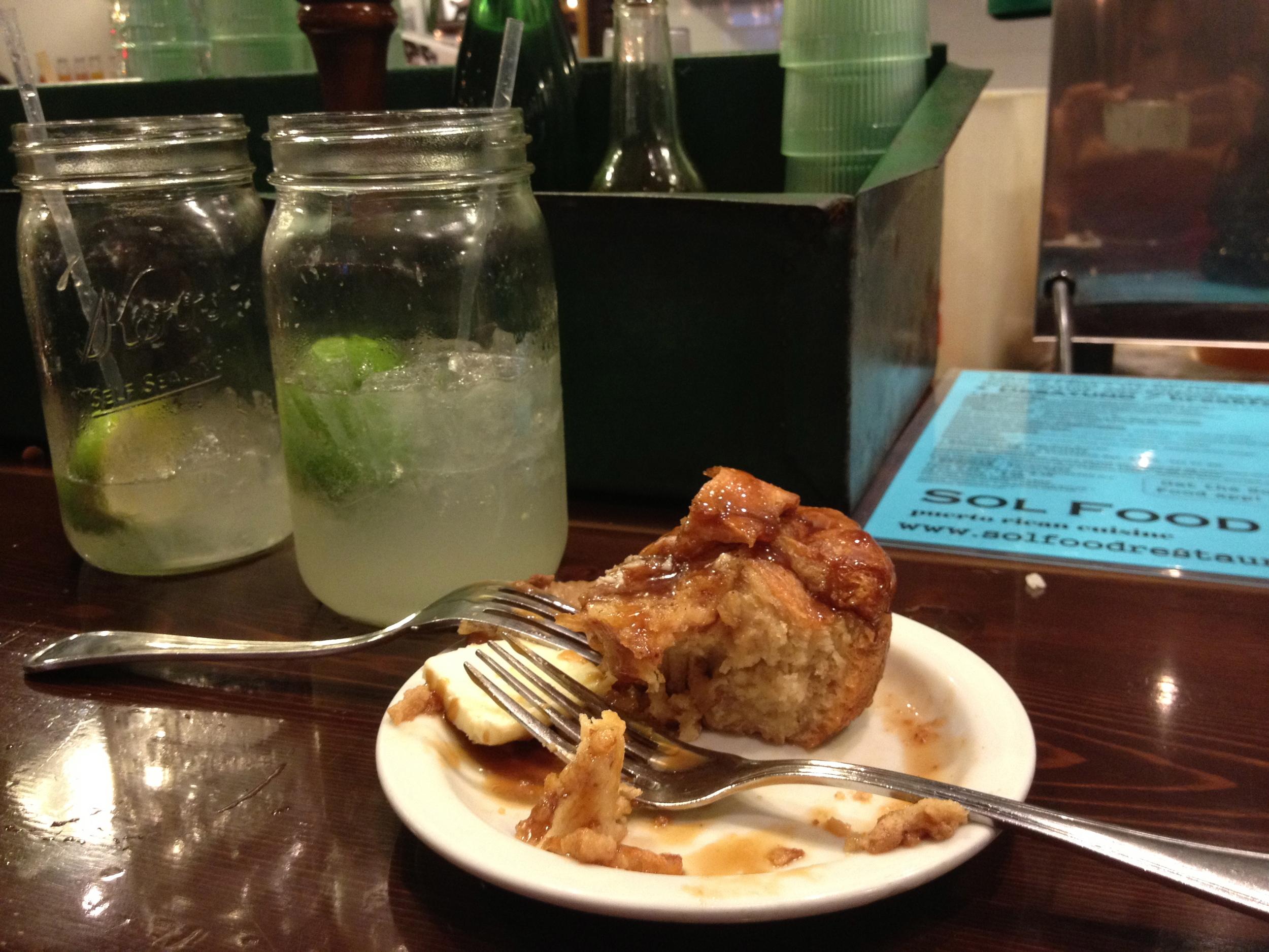 Fresh Limeaid & Mango Bread Pudding