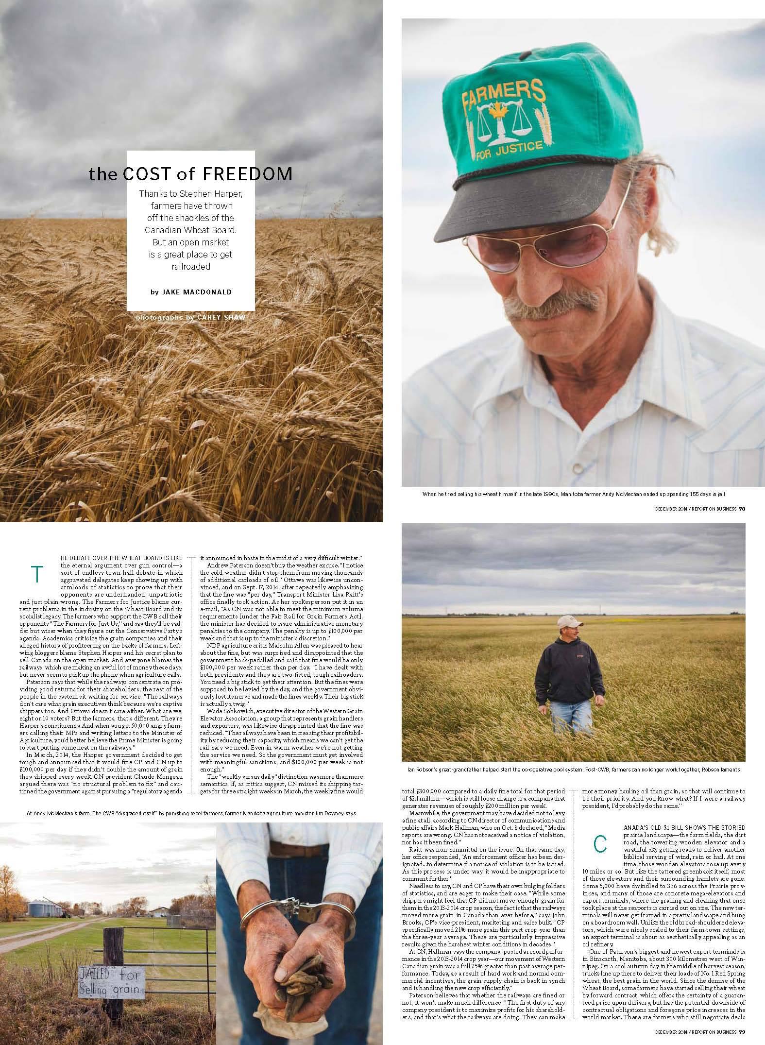 ROB Magazine / Globe and Mail