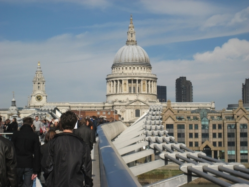 St. Paul's Cathedral, seen from Millennium Bridge, London
